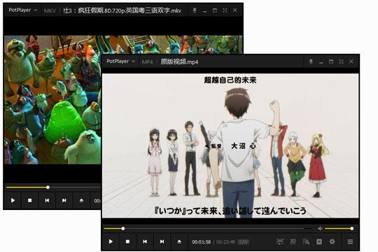完美解码如何同时播放两个视频
