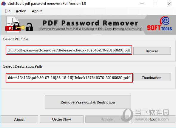 eSoftTools PDF Password Remover