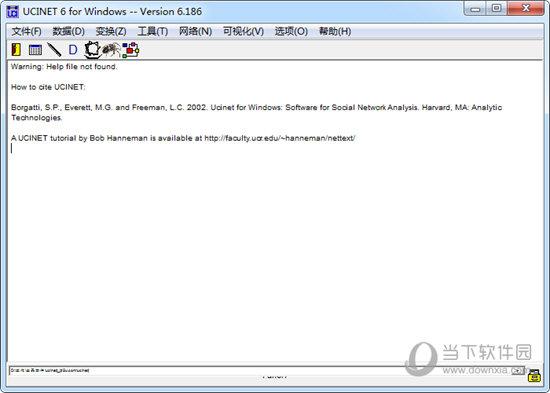 ucinet软件下载 ucinet(社会网络分析软件) V6 186 绿色版下载_