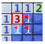 边角的3对应的3个块肯定是雷