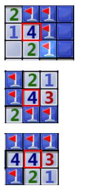 孤立的4对应的4个块肯定是雷