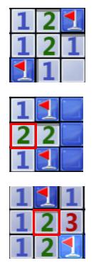 孤立的2对应的两个块肯定是雷