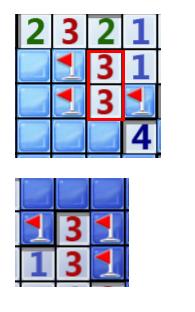 两个并排的3对应的3个块都是雷