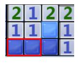 已知右边两个竖着的1的左边两个块中有个个是雷