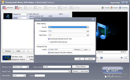 ThunderSoft Movie DVD Maker