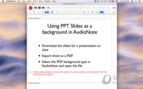 AudioNote 2 Mac版