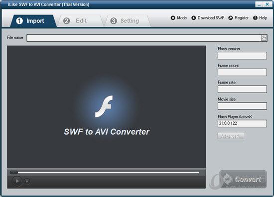 iLike SWF to AVI Converter