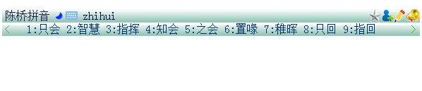 输入该汉字的拼音码