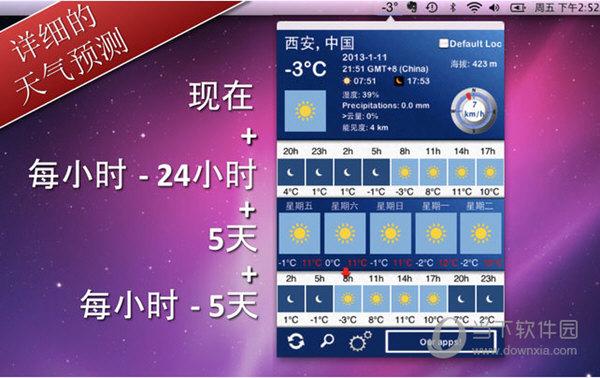 5天内的天气Mac版