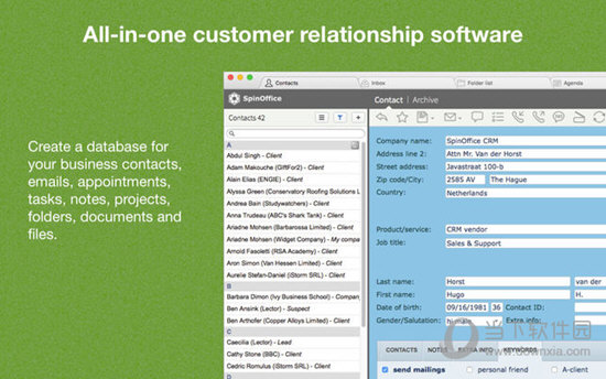 SpinOffice CRM