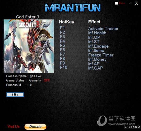 噬神者3九项修改器