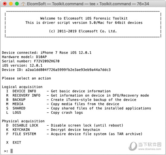 iOS Forensic Toolkit