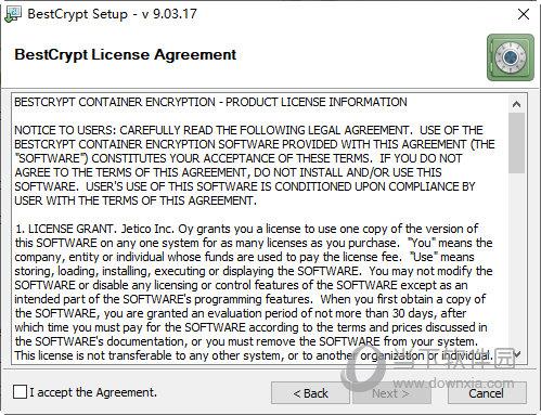 点击I accept the agreement
