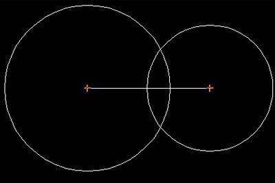 绘出一个半径为19长度的圆