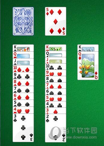 纸牌叠加按从大到小的顺序接牌