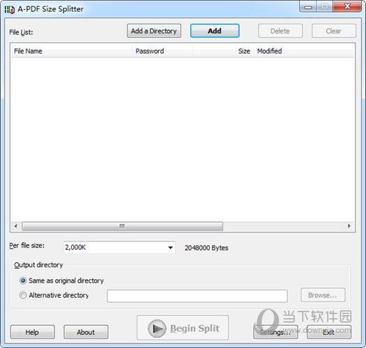 A-PDF Size Splitter