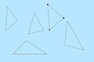 组成你想要的三角形形状