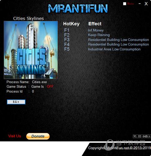 城市天际线游戏修改器