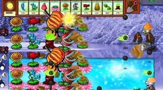 植物大战僵尸冰雪版无限阳光无冷却版 V5.0 安卓版截图1