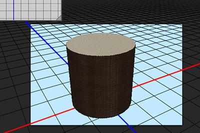 得到一个平面效果的圆柱体
