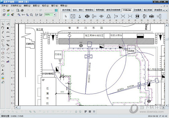 品茗施工现场平面布置图绘制软件破解版