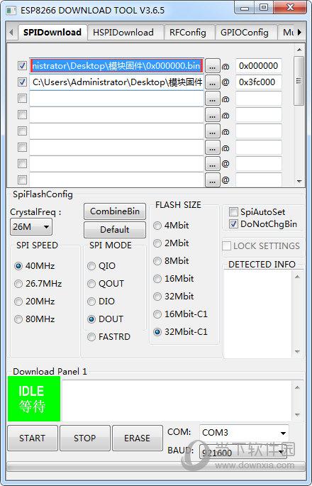 esp8266 download tools