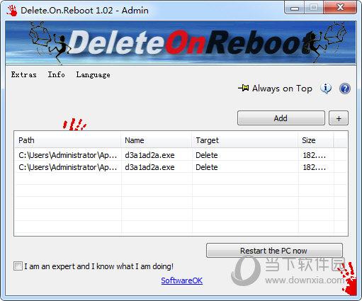 Delete On Reboot