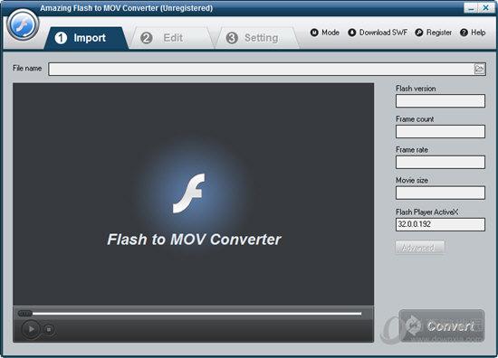 Amazing Flash to MOV Converter