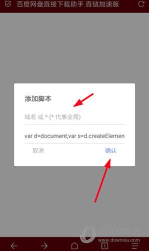 输入脚本的域名