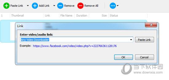 Add link添加视频下载的URL链接