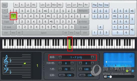 弹奏一个F调的曲谱