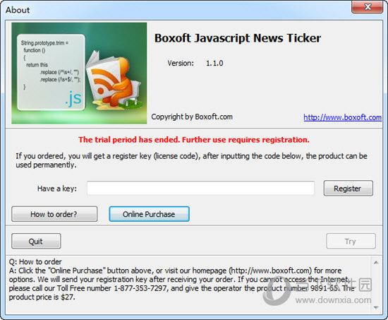 Boxoft JavaScript News Ticker