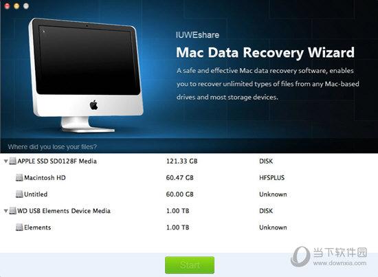 IUWEshare Mac Data Recovery Wizard