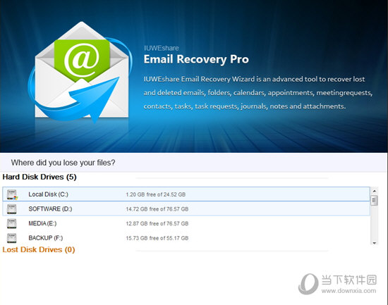 IUWEshare Mac Free Email Recovery