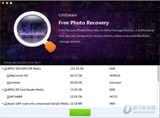 IUWEshare Mac Free Photo Recovery