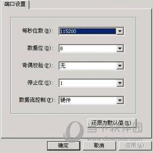 配置选定串口信息