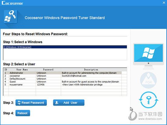 Cocosenor Windows Password Tuner