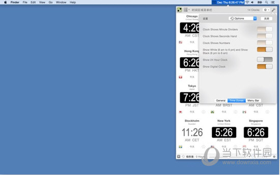 Time Zones Menu Bar