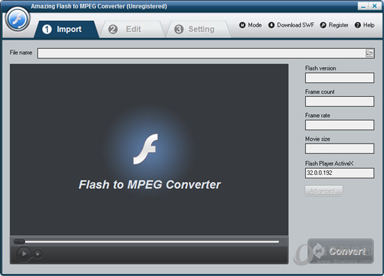 Amazing Flash to MPEG Converte