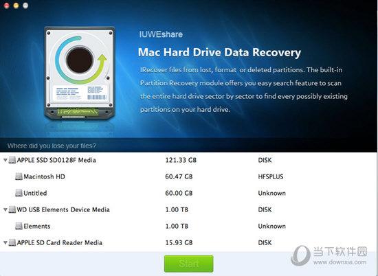IUWEshare Mac Hard Drive Data Recovery