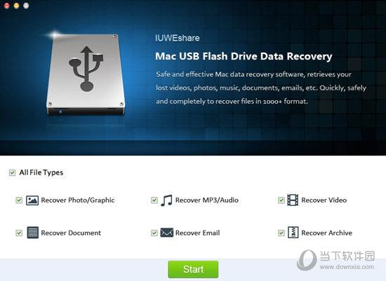 IUWEshare Mac USB Flash Drive Data Recovery