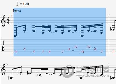 音符就会自动根据调来降低或者升高