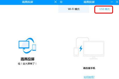 雨燕投屏选择USB模式