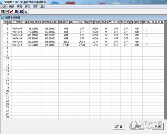 宝峰电子UV5R系列对讲机编程软件