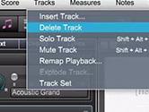 Overture怎么插入新的音轨或修改现有音轨 菜单栏设置一下