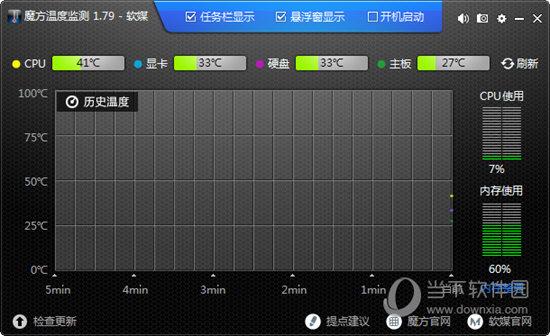 魔方温度监控软件