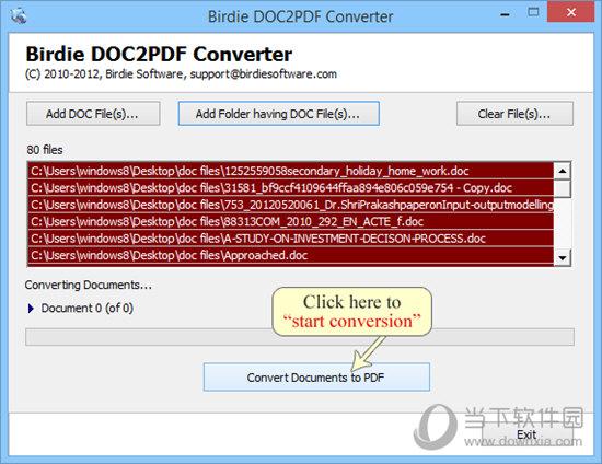Birdie DOC2PDF Converter