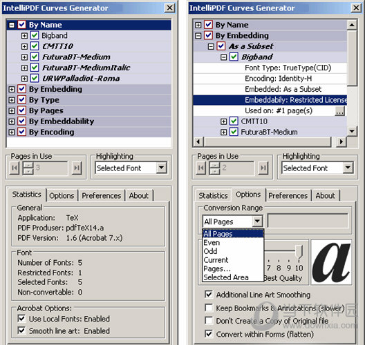 Intellipdf Curves