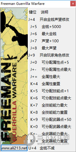 自由人游击战争十七项修改器