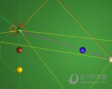 星空QQ桌球瞄准器